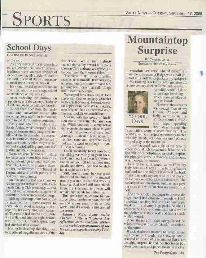 My first article.