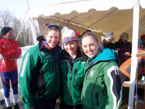 Seniors who raced Rangeley: Courtney Robinson, Sarah Van Dyke, and I.