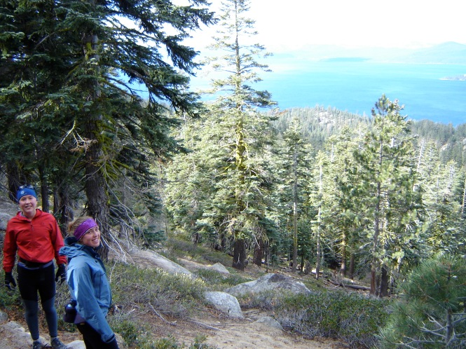 Ida and I on the Tahoe Rim Trail.