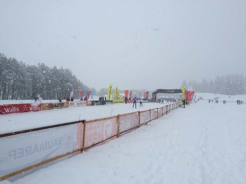 Lesson number one: it seems to primarily snow on Sundays, which are conveniently always race days.